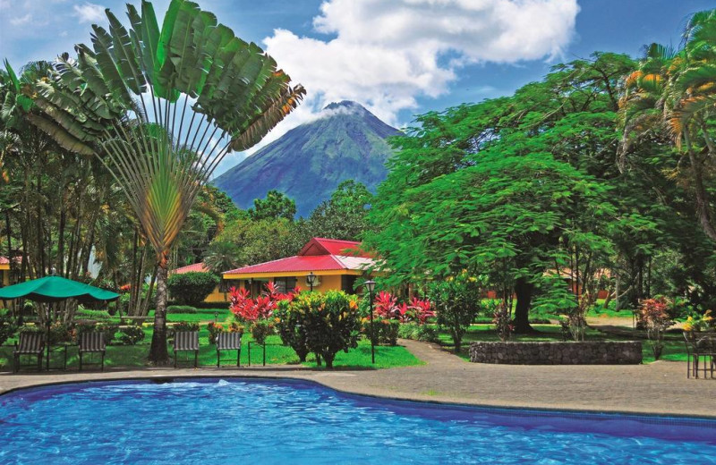 Outdoor pool at Arenal Country Inn.
