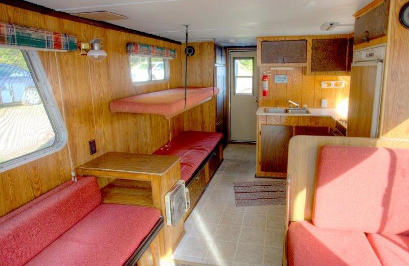Houseboat interior at Timber Bay Lodge & Houseboats.