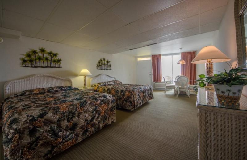 Guest bedroom at Waikiki Oceanfront Inn.