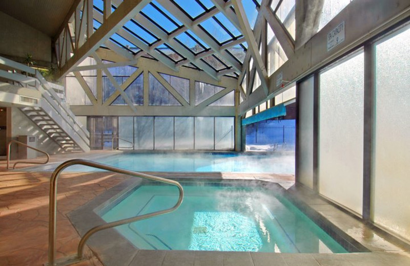 Indoor pool at All Seasons Resort Lodging.