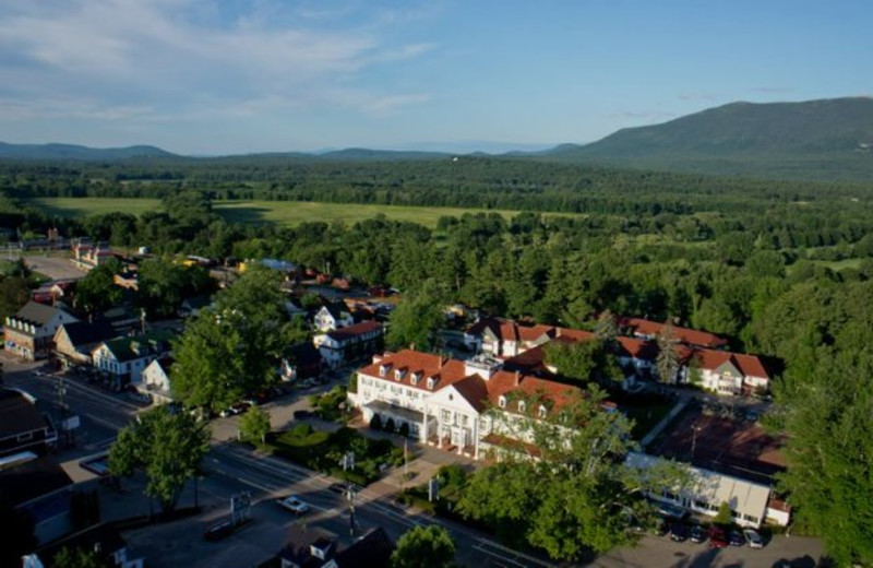 Aerial view of Eastern Slope Inn Resort.