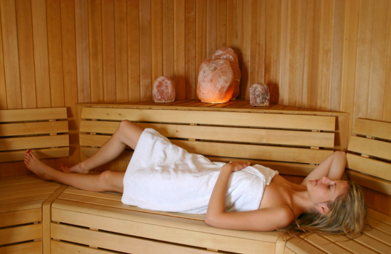 Sauna at Fernwood Resort.