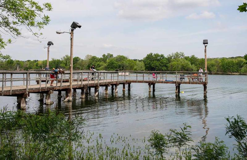 Dock at Inks Lake State Park.