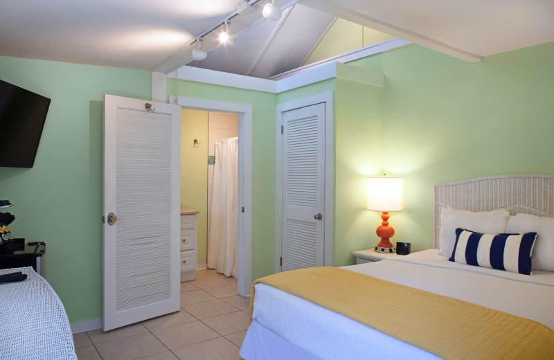 Guest room at Westwinds Inn.