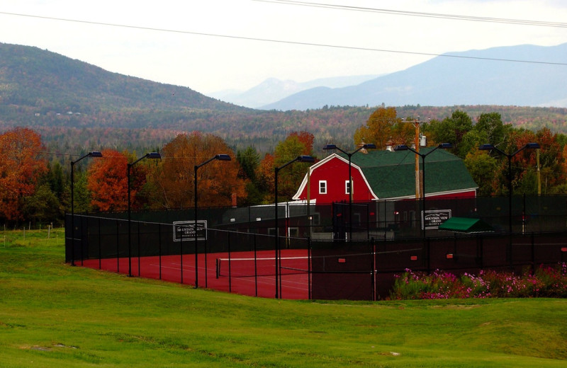 Tennis court at Mountain View Grand Resort.