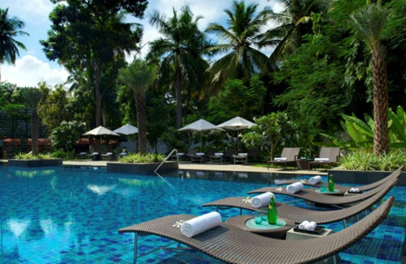 Outdoor pool at Taj Coromandel.