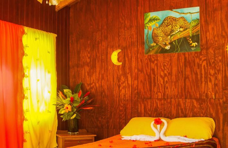 Guest room at Log Cab-Inns.