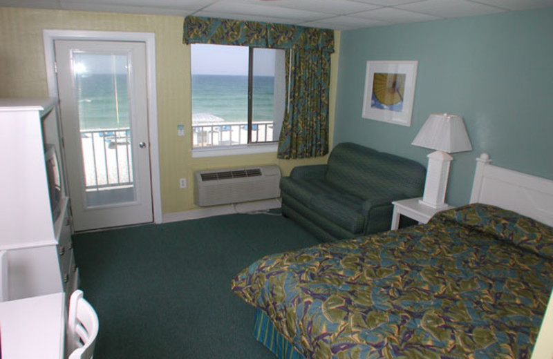 Guest room at Sugar Sands Inn & Suites.