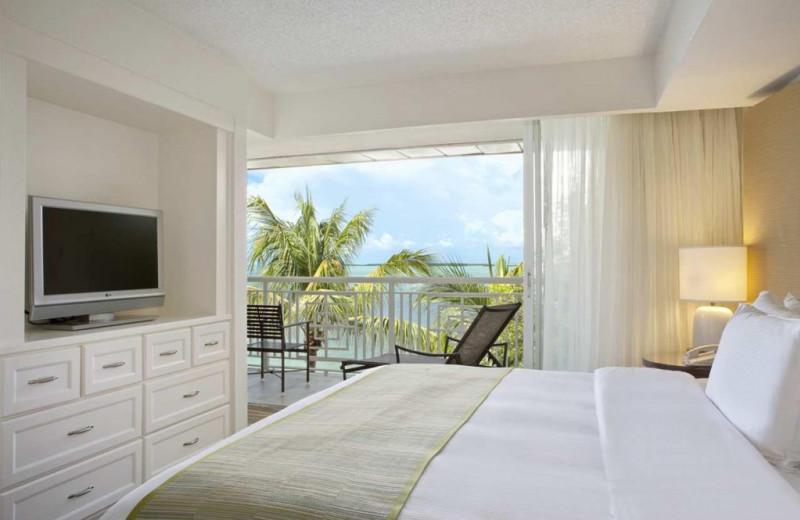 Guest room at Key Largo Grande Resort & Beach Club.