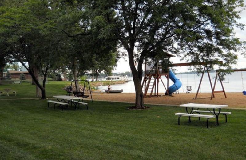 The beach at Lake Shetek Lodge.