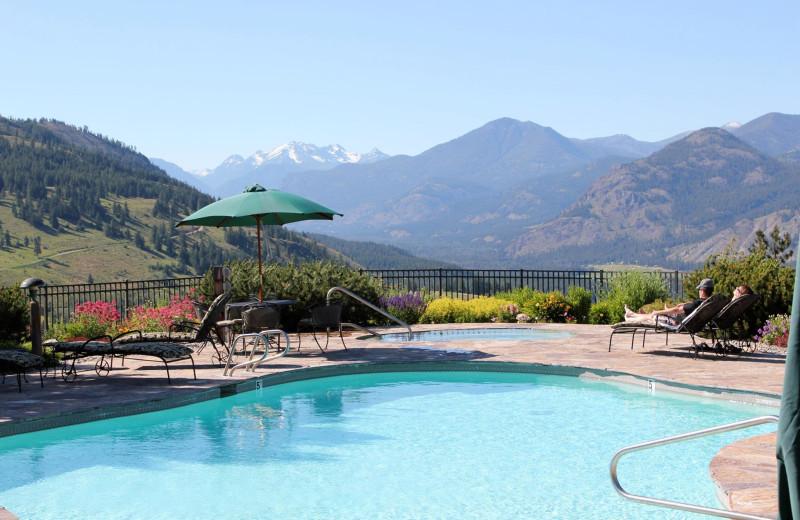 Outdoor pool at Sun Mountain Lodge.