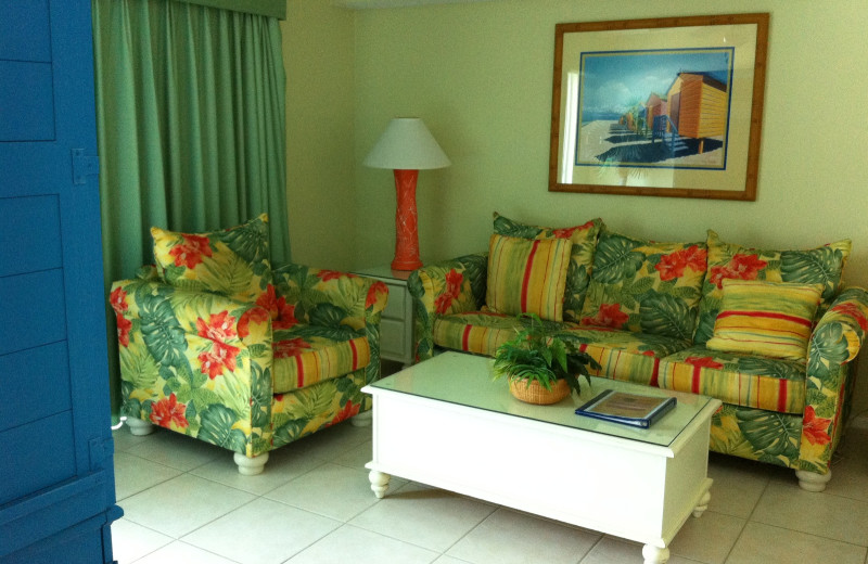 Suite Living Room at Coconut Palms Beach Resort