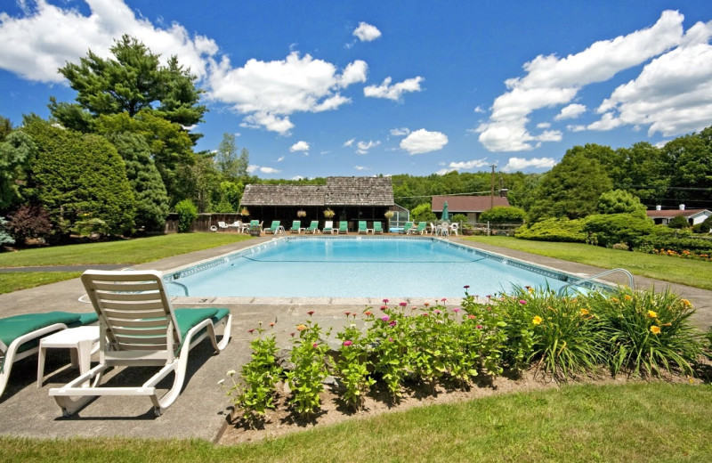 Outdoor pool at Crescent Lodge.