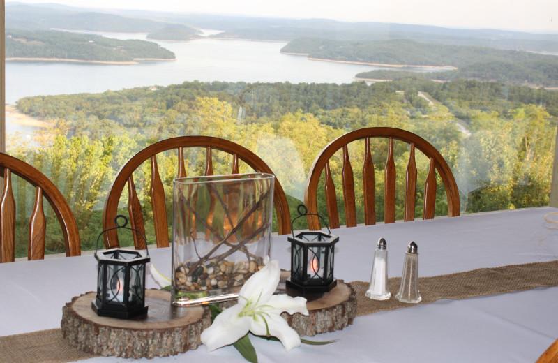 Wedding reception at Whitney Mountain Lodge.
