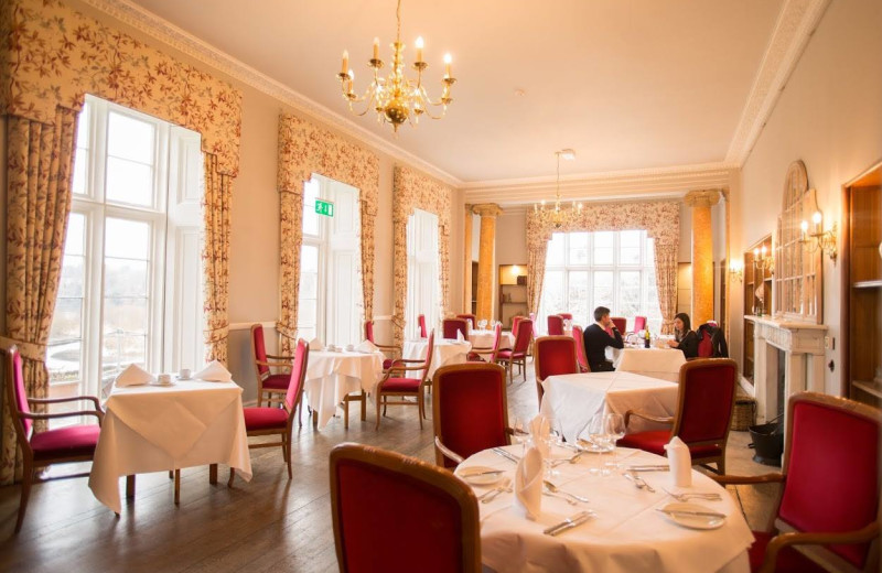 Dining at Kitley House Hotel.