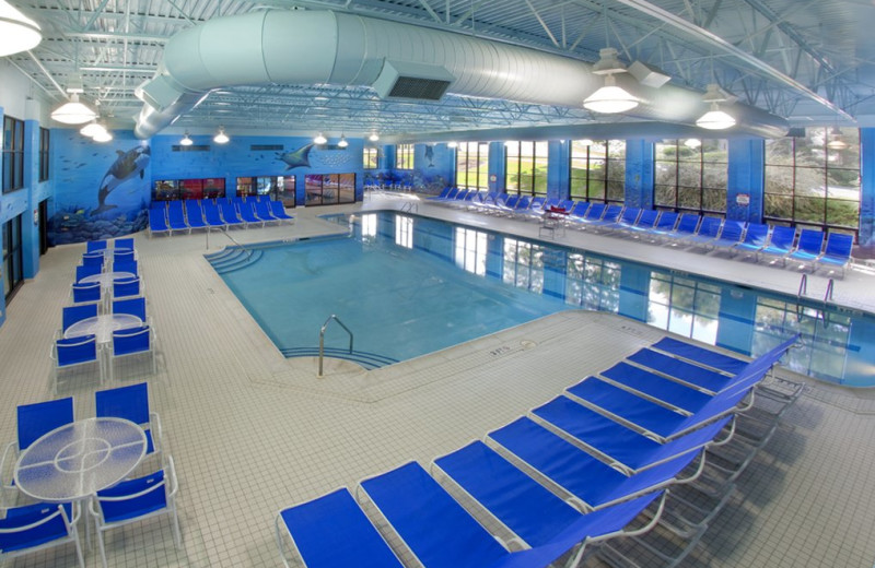 Indoor pool at Lancaster DoubleTree Resort by Hilton.