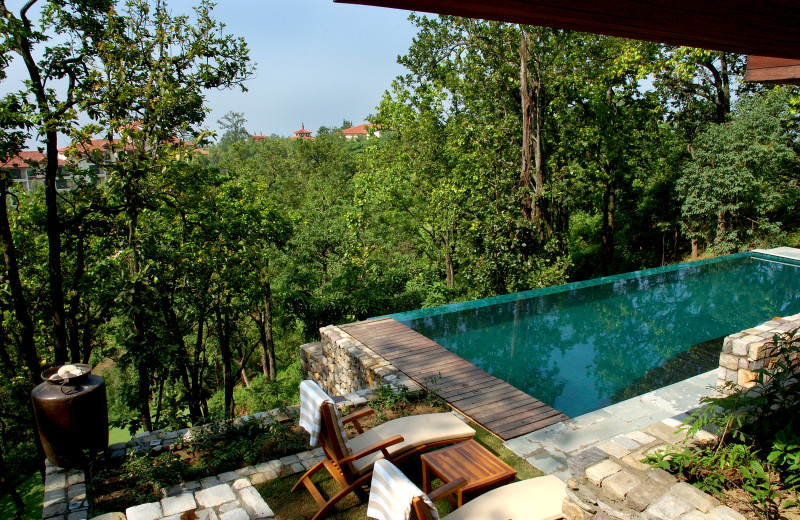 Private pool at Ananda in the Himalayas.