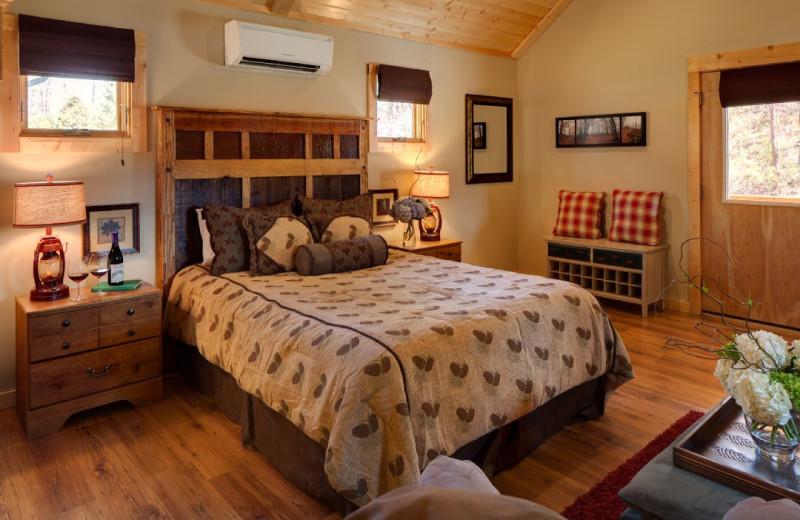 Cabin bedroom at Carolina Mornings.