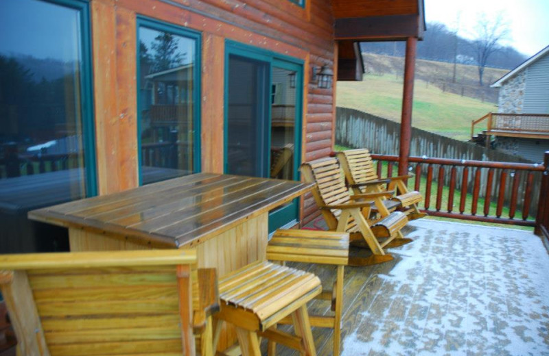 Rental deck at Deep Creek Vacations.
