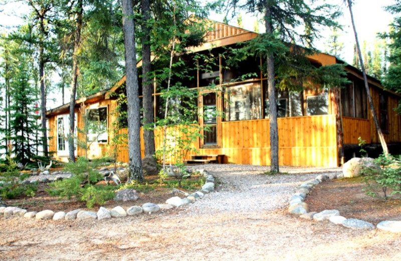 Exterior view of Great White North Wilderness Lodges.