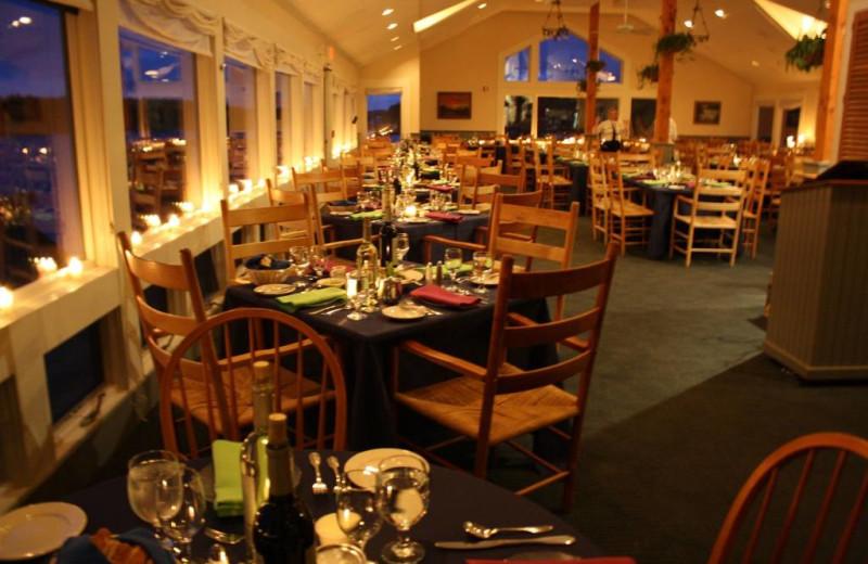 Dining room at Sebasco Harbor Resort.