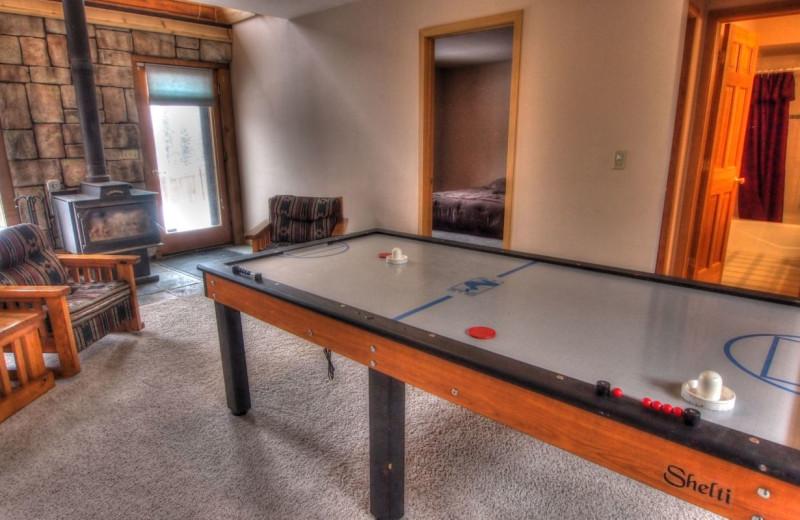 Vacation rental air hockey at SkyRun Vacation Rentals - Nederland, Colorado.