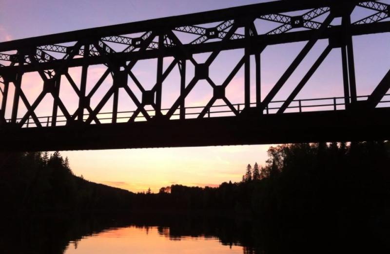 Bridge at Elk Lake Wilderness Resort.