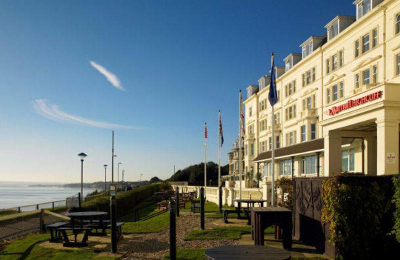 Exterior view of Bournemouth Highcliff Marriott Hotel.