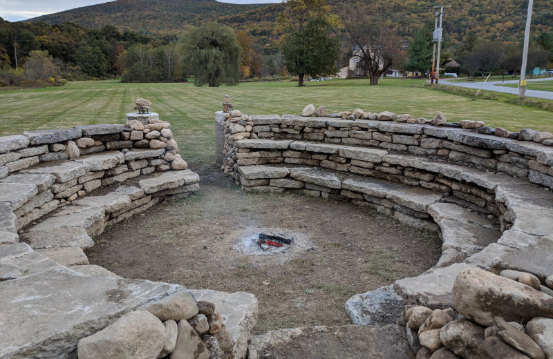 Campfire pit at Honor's Haven Retreat & Conference
