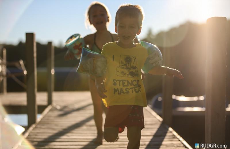 Kids at Sleeping Bear Resort.