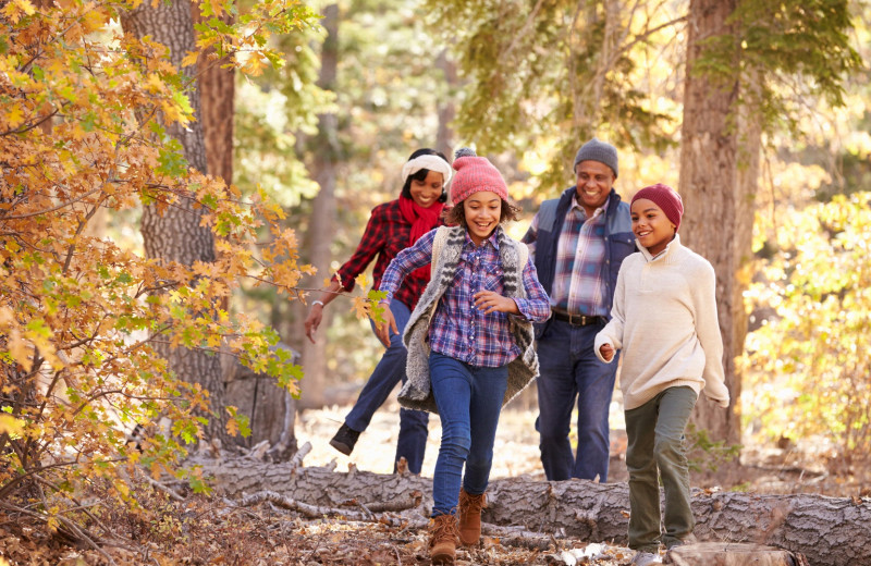 Family hiking at High Hampton Resort.