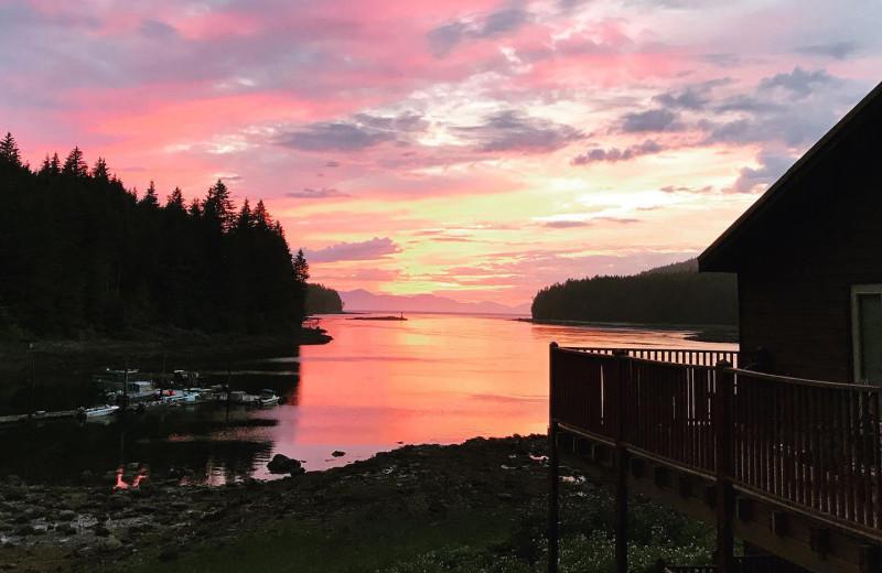 Sunset at Favorite Bay Lodge.