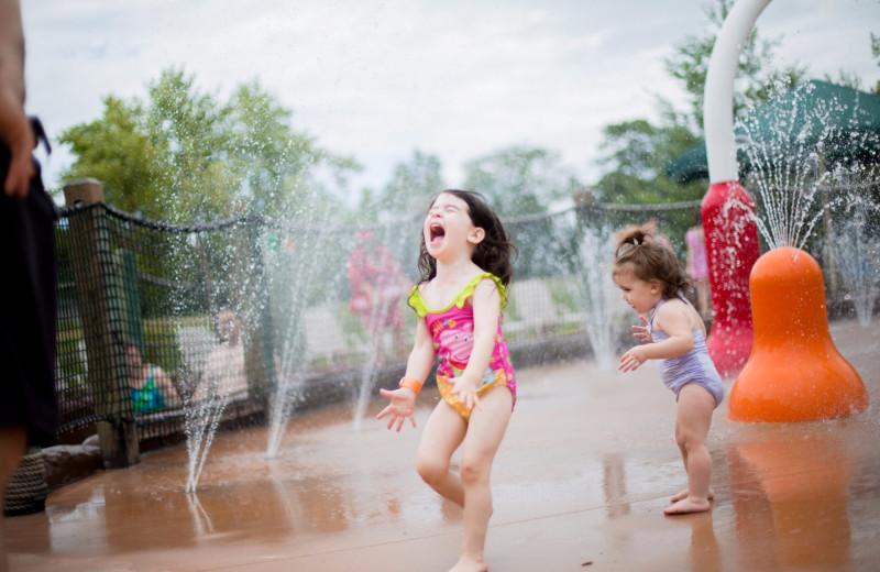 Splash pad at Massanutten Resort.