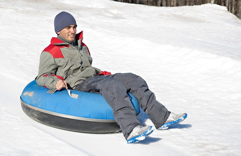 Snow tubing at Villa Roma Resort and Conference Center.
