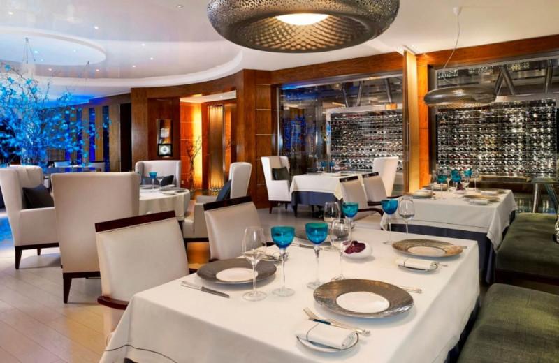 Dining at President Wilson Hotel.