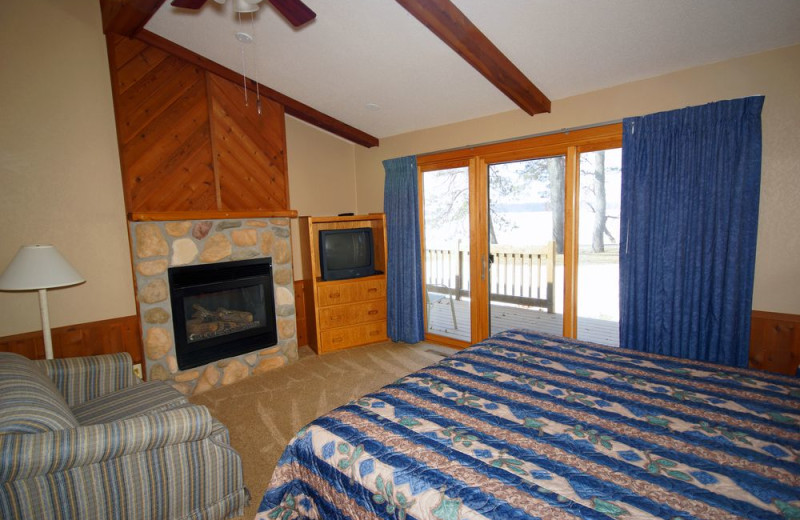 Guest room at Kavanaugh's Sylvan Lake Resort.