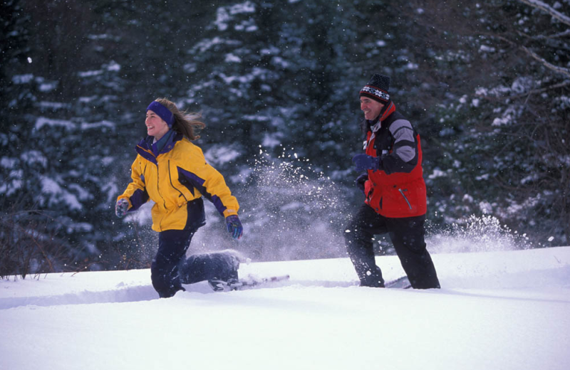 Snowshoeing near Royalty Inn.