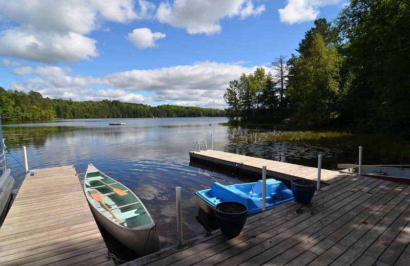 Cabin docks at North Country Vacation Rentals.