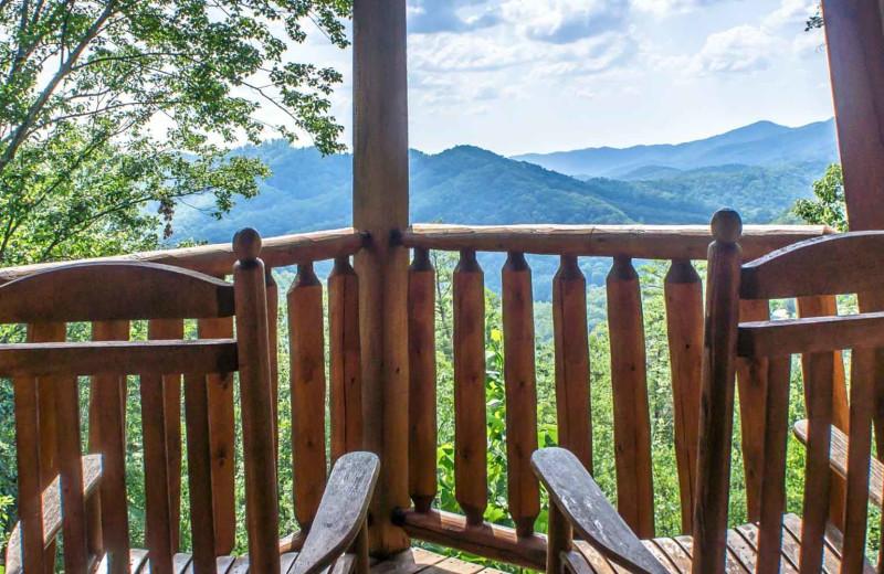 Rental mountain view at Natural Retreats Great Smoky Mountains.