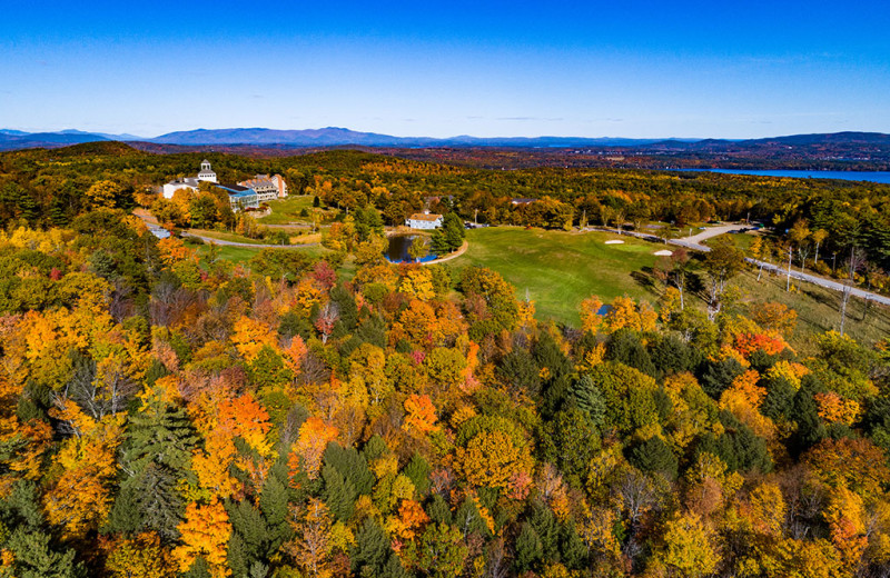 Autumn Aerial View of Steele Hill