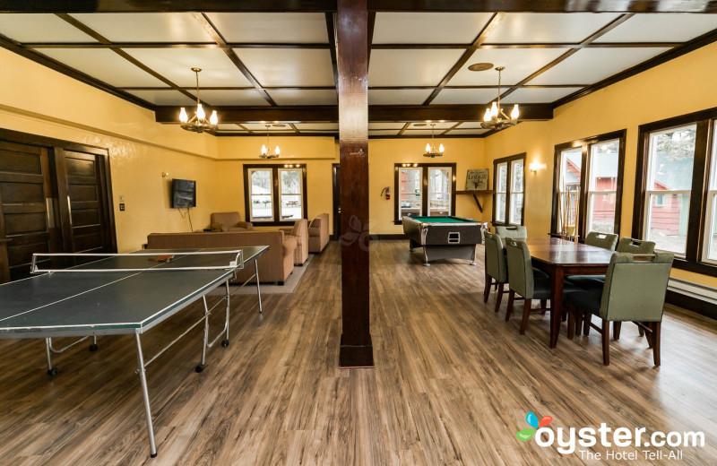 Recreation room at Birchcliff Resort.