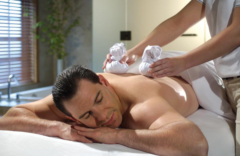 Back massage at Fairmont Le Chateau Montebello.
