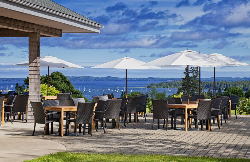 Patio at The Algonquin Resort St. Andrews by-the-Sea, Autograph Collection.