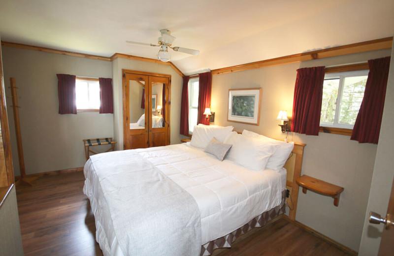 Guest bedroom at Elmhirst's Resort.