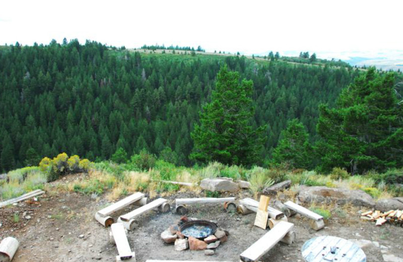 Fire pit view at Rocky Mountain Elk Ranch.