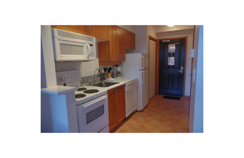 Guest kitchen at Mountain View Accommodation.