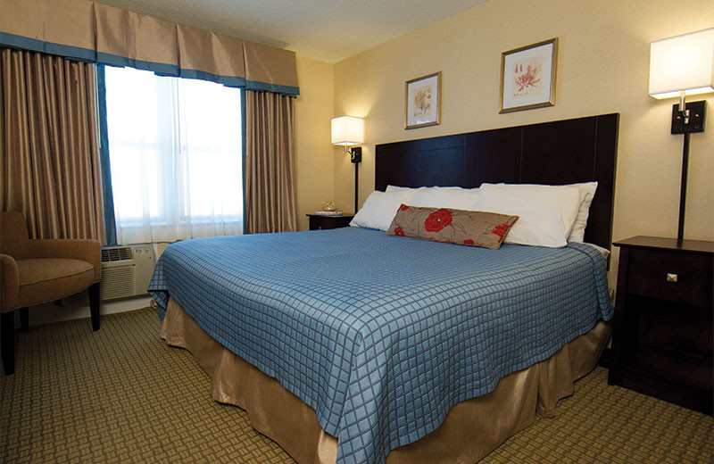 King guest room at Harrison Hall Hotel Ocean City.