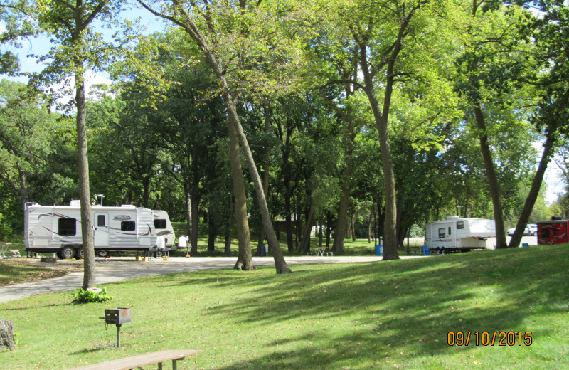 Campground at Sherin Memorial Park.