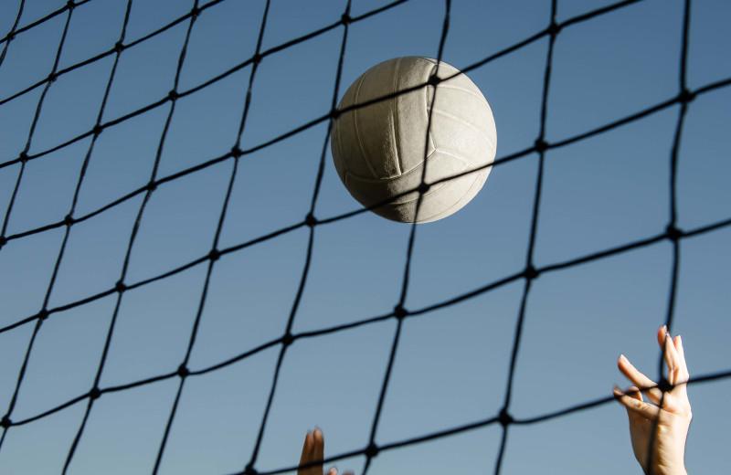 Volleyball net at Westgate Branson Woods Resort.
