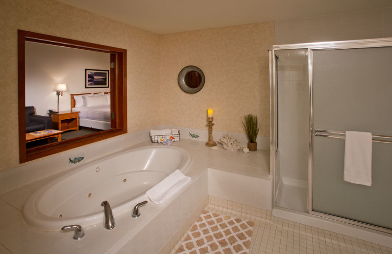 Guest bathroom at The Inn at Gig Harbor.